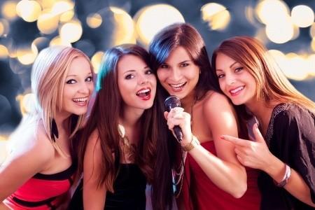 Four Beautiful Women Singing